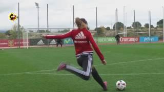 Duelo de faltas de la Selección española femenina