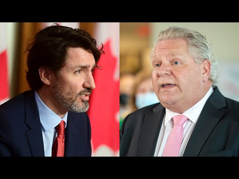 PM Trudeau pushes back against Ford's vaccine criticism
