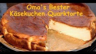 Oma's bester Käsekuchen Quarkkuchen nach alten Rezept ohne Boden locker lecker