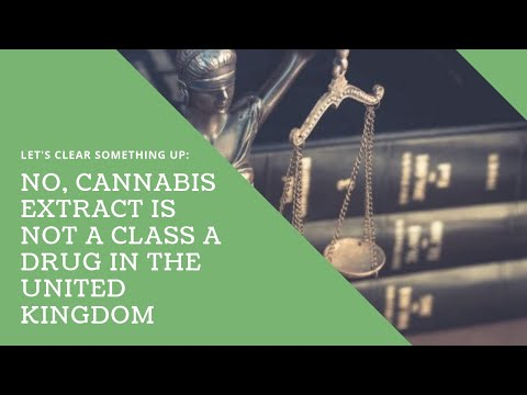 No, Cannabis Extract is Not a Class A Drug in the United Kingdom