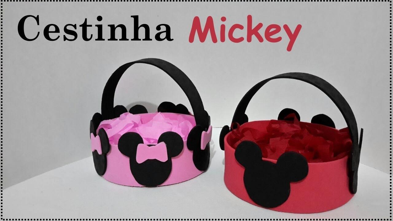 Cestinha Mickey - Feito com EVA  235736832fd