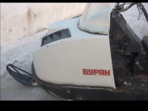 Тест драйв отечественного снегохода БУРАН