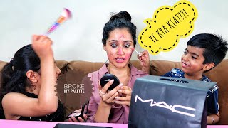 My cousins do my HILLARIOUS Makeup | That Glam Girl