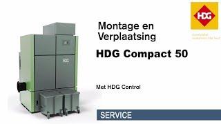 HDG Compact 50 kW ketel opstellen van Bio Energie op Maat
