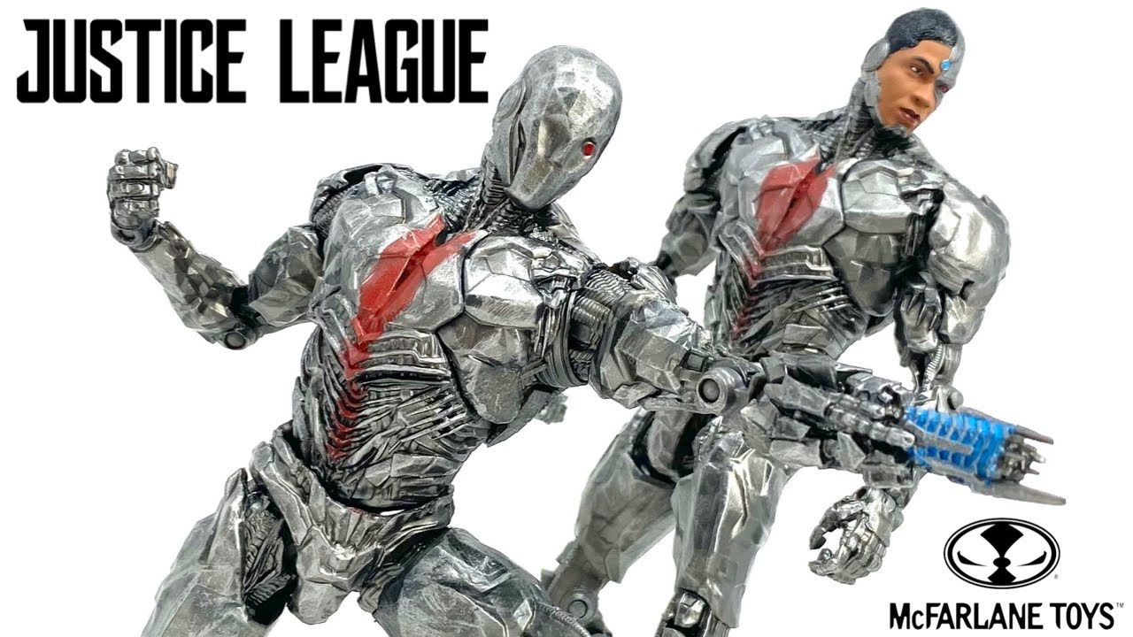 Download McFarlane Toys Justice League CYBORG Unmasked & Masked DC Multiverse SNYDERCUT 2021 Figure Review