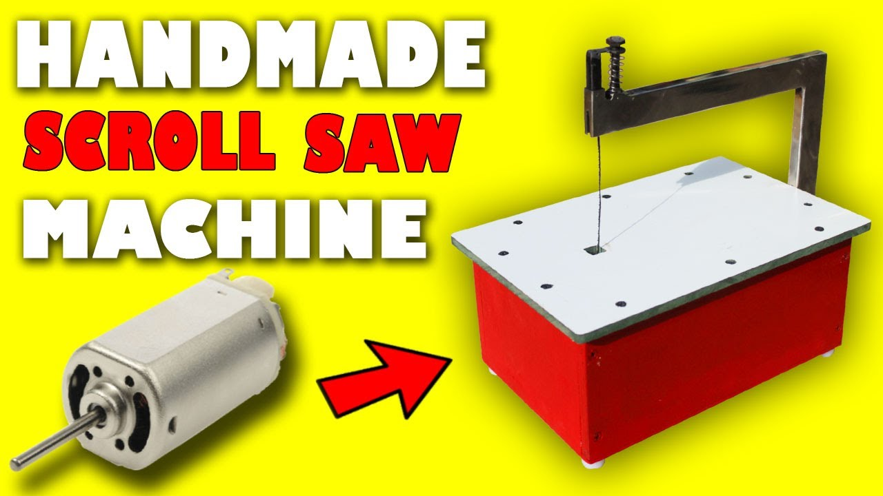 How to Make a Scroll Saw Machine With Your Hands | Scroll Saw Machine Homemade | Electric Scroll Saw