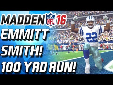 100 YARD RUN! EMMITT SMITH! TOO FAST TOO STONG! - Madden 16 Ultiamate Team