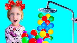 Ястася и волшебный душ из цветных шаров или we bathed too much
