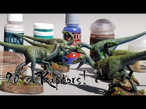 Let's Paint Some 90's Raptors! My Favorite Mini Paints and Why.