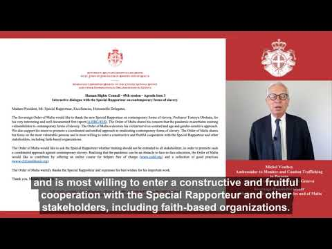 Statement 45th Human Right Council of the Order of Malta on human trafficking