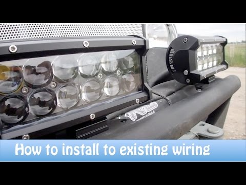 rigid lights wiring diagram how to install aftermarket lights to existing wiring youtube  aftermarket lights to existing wiring