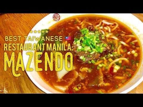 Best Taiwanese Restaurant Manila: Mazendo Beef Noodle Soup S Maison SM Mall of Asia Manila