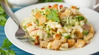 Вкусный салат с сухариками )