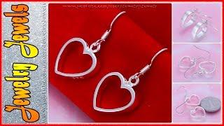 Элитная Ювелирная Бижутерия: серьги сердце из серебра 925 прбы (ССИ035)(, 2015-04-14T07:51:30.000Z)