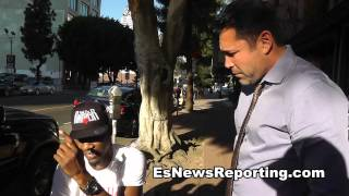 Oscar De La Hoya Meets Paul Williams In Los Angeles - EsNews boxing