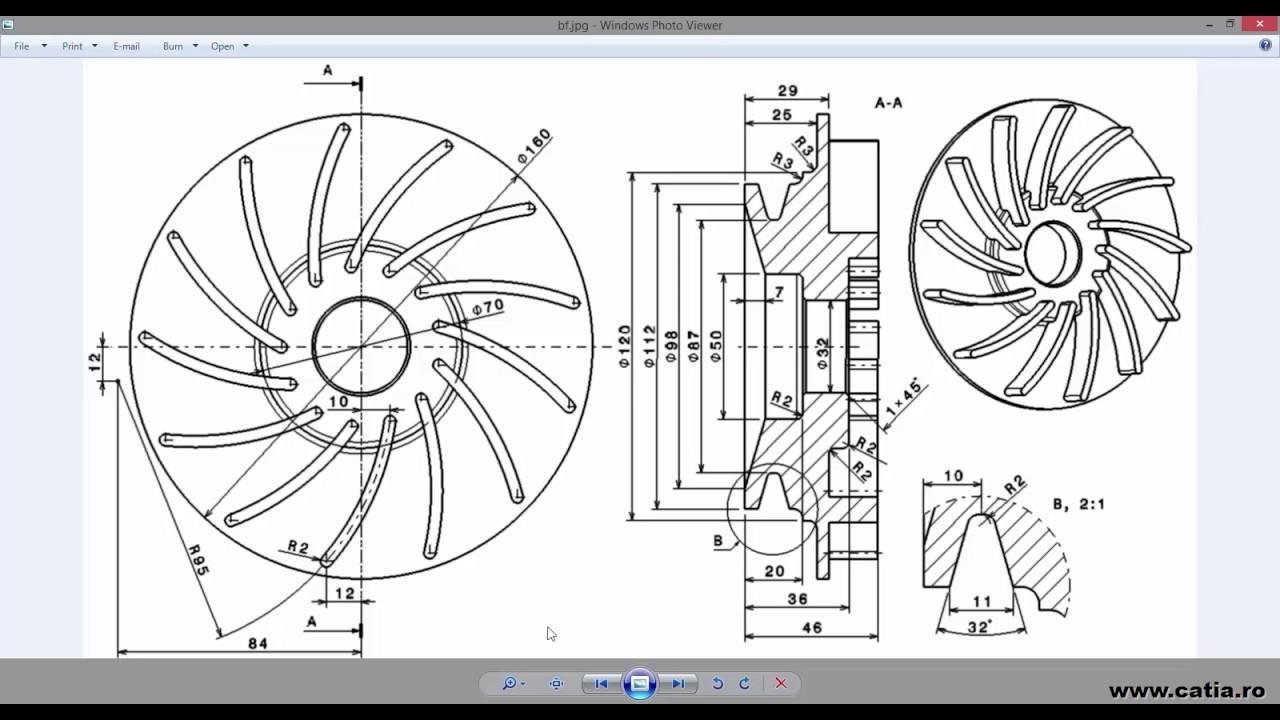 How To Create A Mechanical Part Using Catia Part Design 22