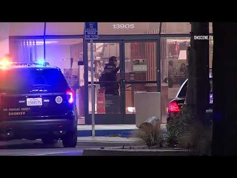 Bank of America Robbery Standoff in Norwalk