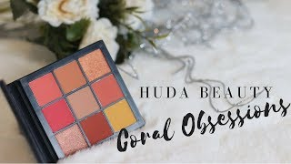 Huda Beauty Coral Obsessions - mature makeup/hooded eyes