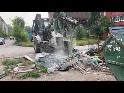 вывезем на полигон строительный мусор