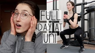 BUSY UNI VLOG | DID STUDYING RUIN MY EYESIGHT? LECTURES, FOOD SHOPPING & GYM WORKOUTS