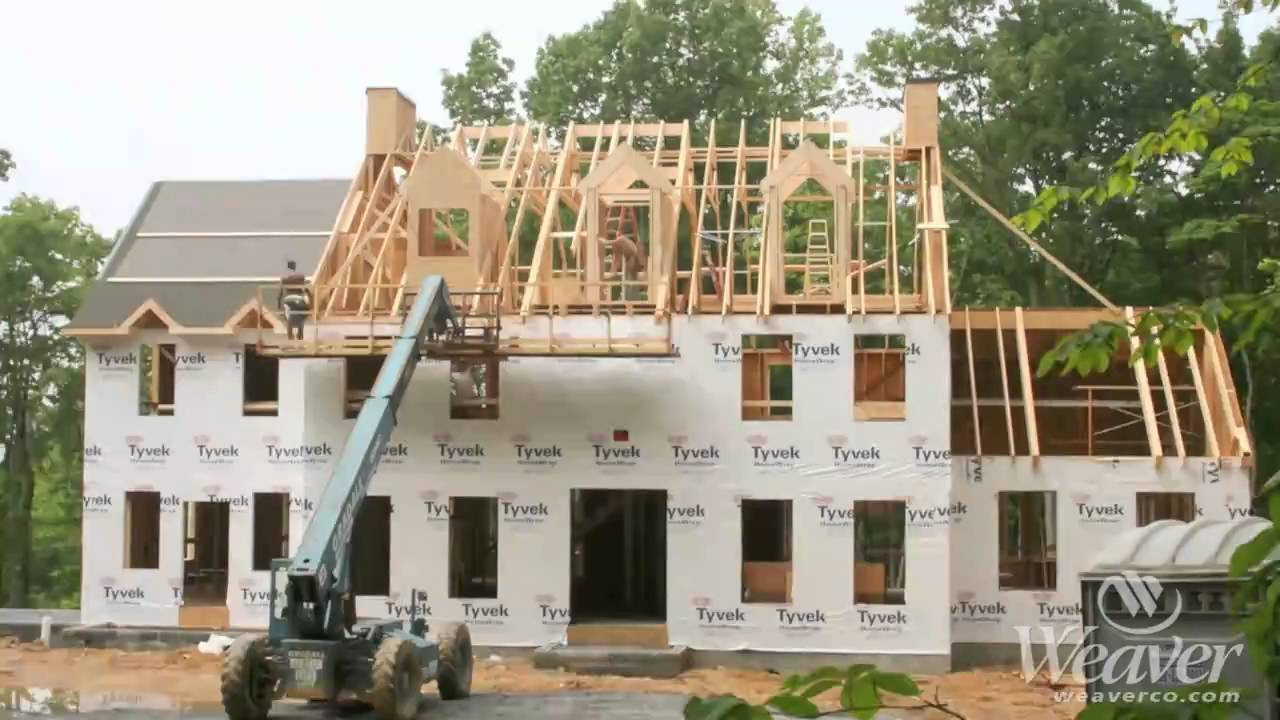 Time lapse of home constructed start to finish youtube for Best material to build a house