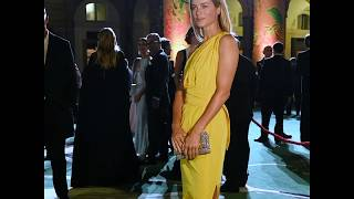 Max Mara with Carolyn Murphy at the Green Carpet Fashion Awards Ceremony