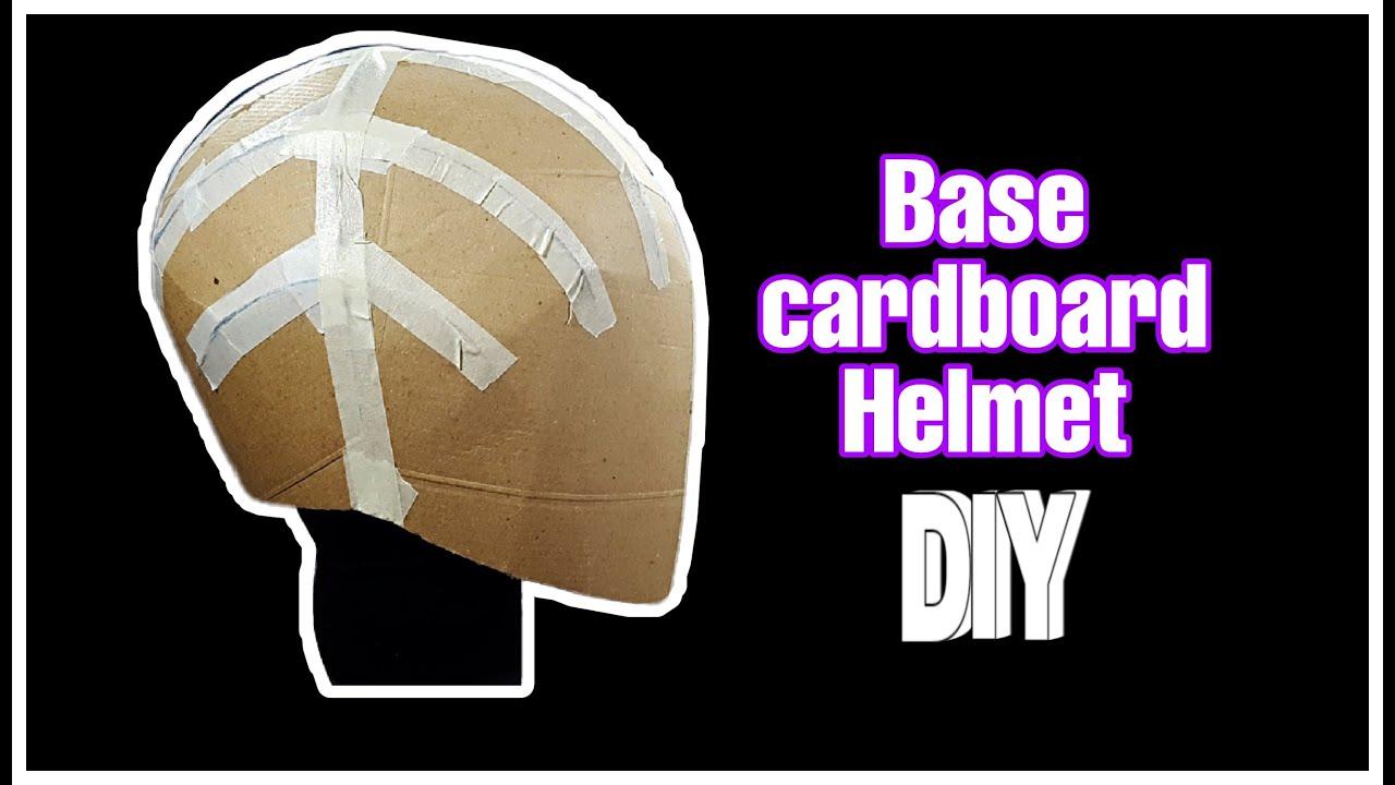 Diy How To Make A Carton Base Helmet Free Templates Youtube