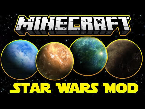 STAR WARS MOD Pt.2 - Ancient Jedi Temples, Hypderdrives, MOS EISLEY! | Minecraft Mod Showcase 1.7.10