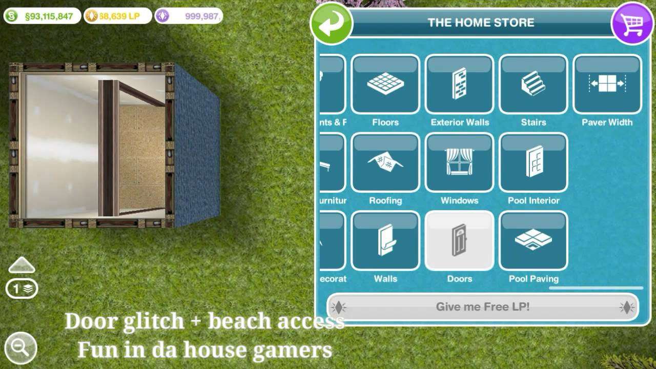 & door glitch + beach access Sims freeplay - YouTube pezcame.com