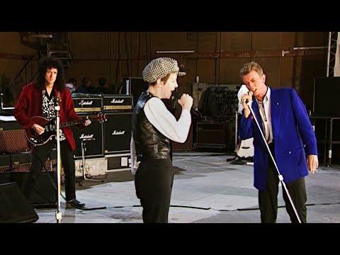 David Bowie & Annie Lennox - Under Pressure - 1992 FMT Rehearsal (60 FPS)