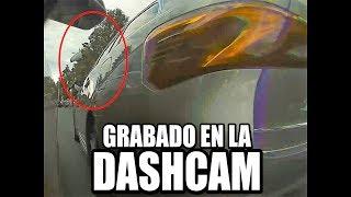 Golpe grabado por la dashcam: ¡el retrovisor sale volando!