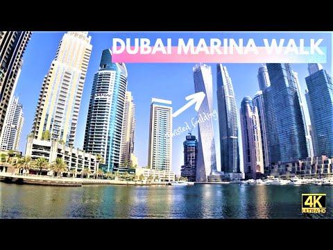 DUBAI MARINA WALK 2021 | 4K | MORNING WALK WITH MOMMY MITCH & AALIYAH | DUBAI TOURIST ATTRACTION