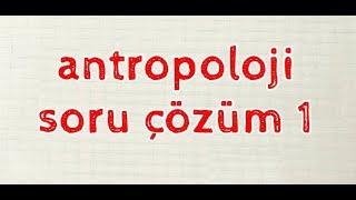 2019 Sosyal Bilgiler ÖABT - Antropoloji Soru Çözümü 1