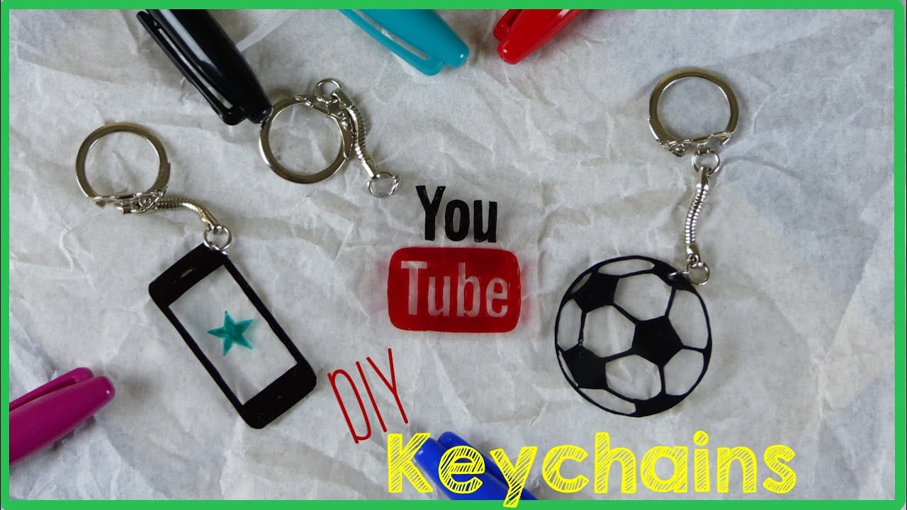 Diy crafts how to make a keychain youtube for How to make craft