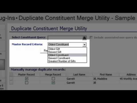 The Raiser's Edge: Duplicate Constituent Merge Utility