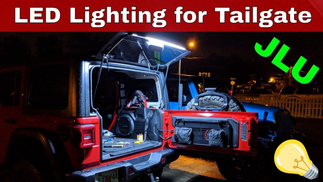 Danti Fit For Jeep Wrangler 2018 2019 JL JLU LED Tailgate Windshield Rear Glass Lift Gate Dome Light Bar wen wen top