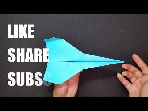 Top Long Distance Paper Airplanes - How To Make 5+ Paper Airplanes That Fly Far