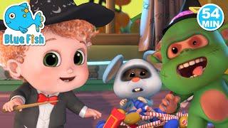 Spooky - Wheels On The Bus Halloween | Haunted House | Halloween songs kids |  Bundle of Joy