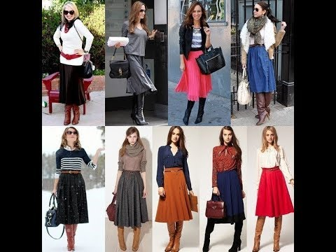9092739bb How to Wear Your Midi Skirt This Winter - YouTube
