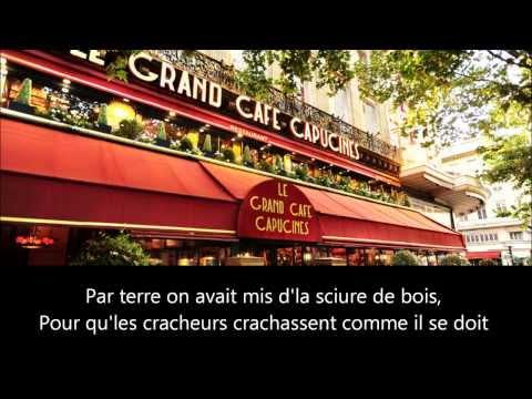 Charles Trenet Le Grand Café - PAROLES
