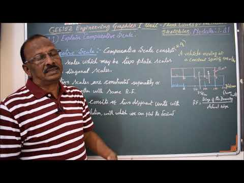Explain Comparative Scale - M1.42 - Engineering Graphics in Tamil