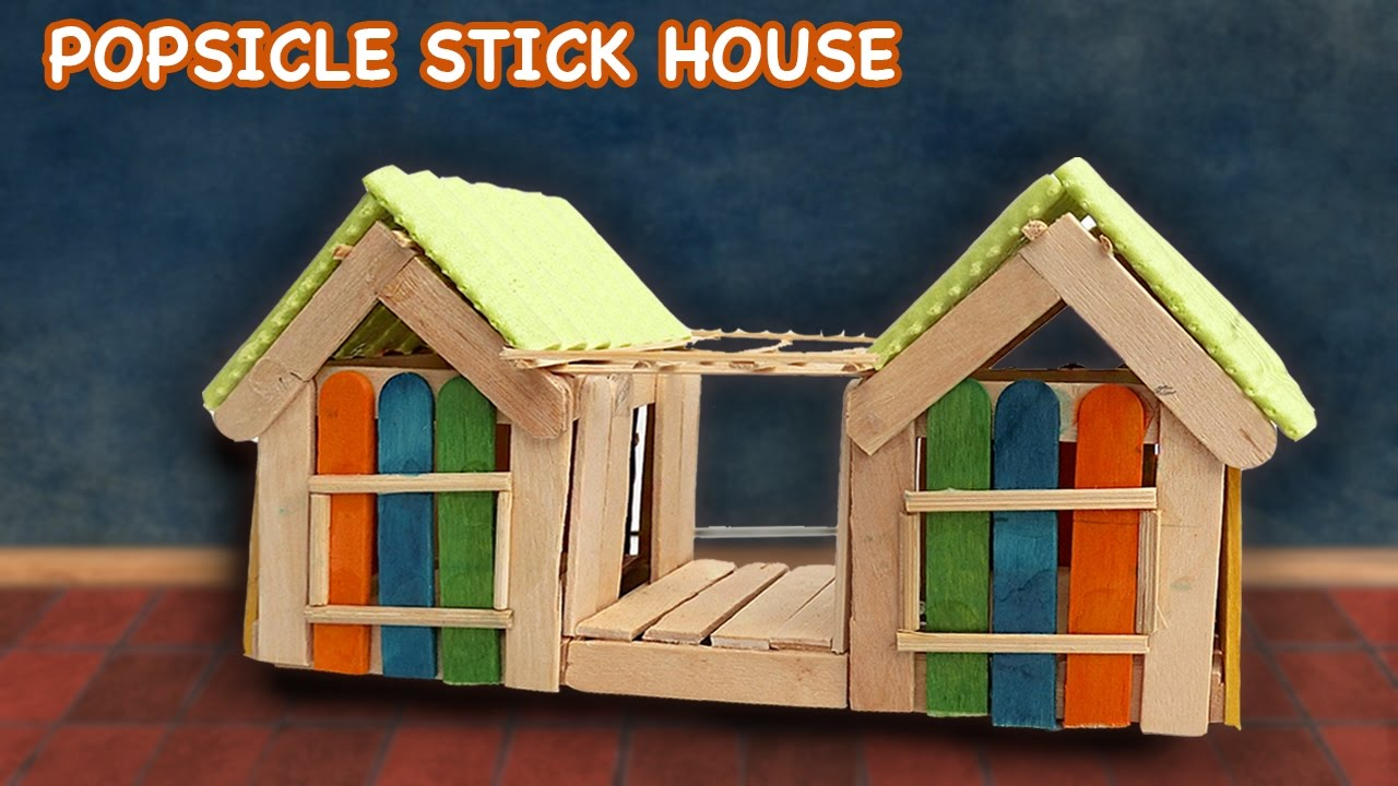 popsicle stick house #8 - crafts ideas for fairy house - youtube