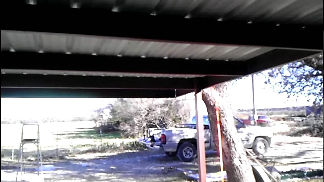 Diy 24x24 Carport Bolt Together From Mueller Youtube
