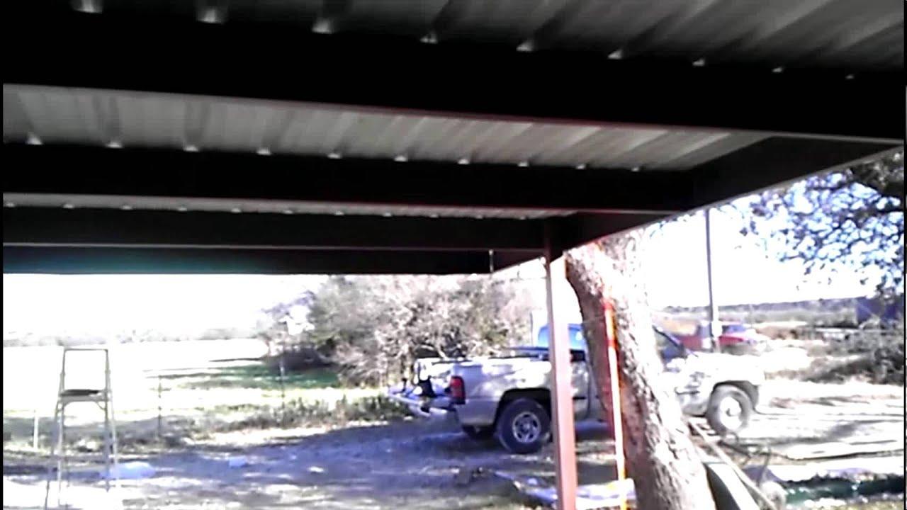 Diy 24x24 Carport Bolt Together From Mueller Youtube