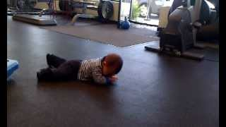 Baby army crawl