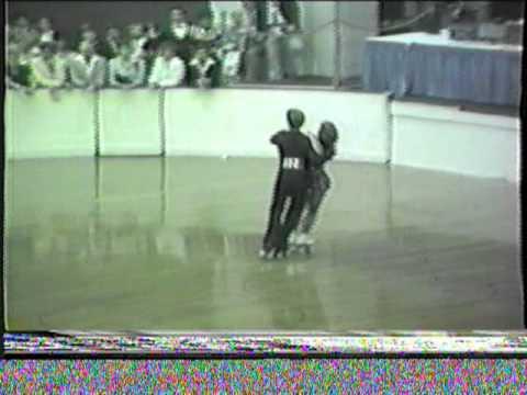 1984 US National Roller Skating Championships - Junior World Class Dance Elim - Keats Foxtrot6