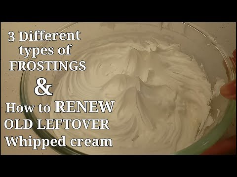 How To Make 3 DIFFERENT FROSTINGS | WHIPPED CREAM | BUTTERCREAM | WHIPPED CREAM BUTTERCREAM FROSTING