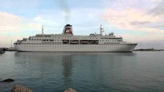 Abfahrt MS Deutschland in Porto Empedocle (Sizilien)