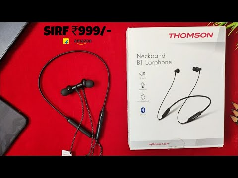 Unboxing & Full Review | Thomson BNB01 Bluetooth Neckband Earphones
