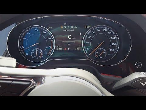 Bentley Bentayga - interior & start up